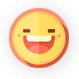 smiley qui sourit avec des dents blanches